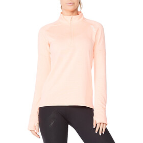 2XU Ignition 1/4 Zip Shirt Women, pop coral/white reflective